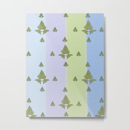 Unique retro interior design and textile design botanical pattern on canvas Metal Print