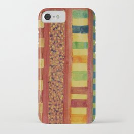 Glamorous Beach Cabins under Squared Sky iPhone Case
