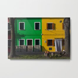 Colored Burano Metal Print