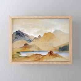 Cinnabar Mountain Yellowstone River Watercolour 1871 By Thomas Moran   Watercolor Reproduction Framed Mini Art Print