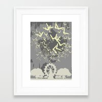 bats Framed Art Prints featuring Bats by Italyprayer