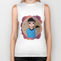 spock Biker Tanks featuring Spock by hannahroset