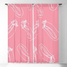 Pink Aubergine Blackout Curtain
