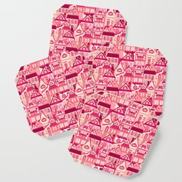 Pink Little Town Coaster