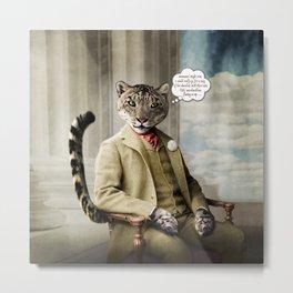 Sir Sebastian Snow Leopard Metal Print