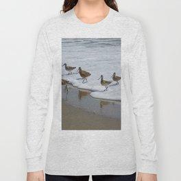 Sandpiper Convention at Malibu Colony Long Sleeve T-shirt