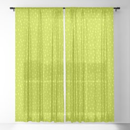 Lime Paint Drops Sheer Curtain