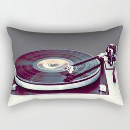Vinyl Player Rectangular Pillow