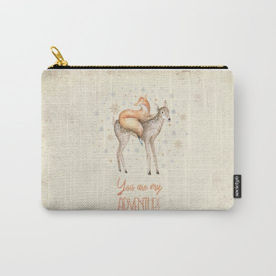 You are my adventure- fox and deer in winter- merry christmas Carry-All Pouch