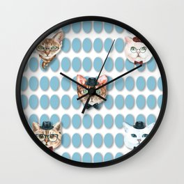 Cool cats Wall Clock