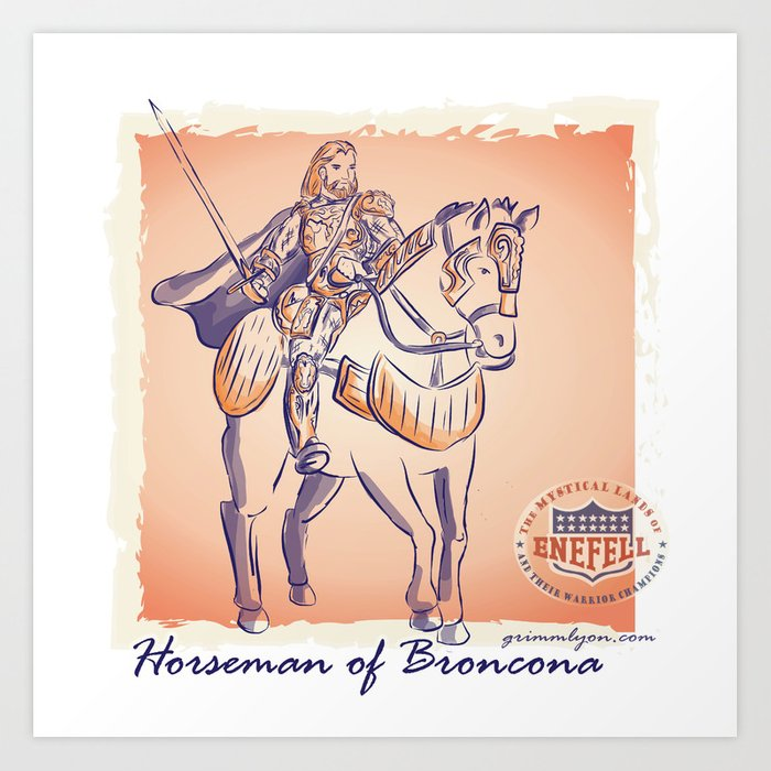 Horseman of Broncona Art Print