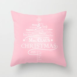 Mrs. Claus Secret Recipes Throw Pillow
