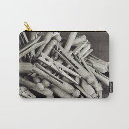 Wooden Clothespins 6 Carry-All Pouch
