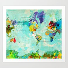 World Map - 8 Art Print