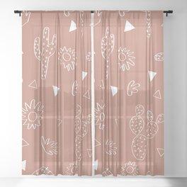 Cactus Desert Sheer Curtain