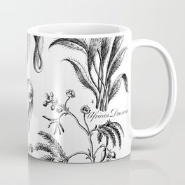 Antique Nepenthes and Drosera Print from 1757 Coffee Mug
