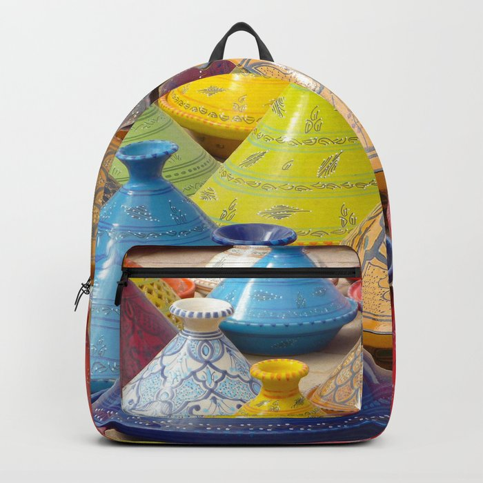 Dish to tajine, Djerba, Tunisia, Backpack