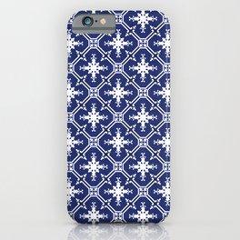 Navy blue Portuguese tile exclusive design iPhone Case