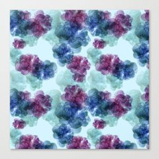 Mixed berries pattern Canvas Print