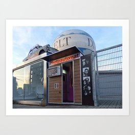 Old photo booth _ (photo machines) Art Print