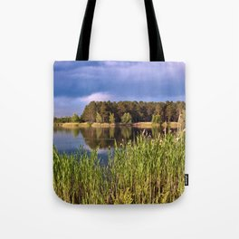 After Rain Poetry Tote Bag