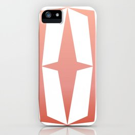 Mid Century Muse: Medallion in Coral iPhone Case
