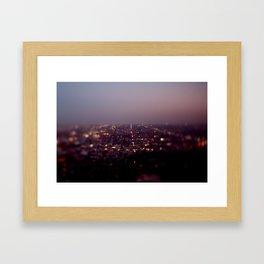 Angel City Lights, L.A. at Night (No. 2) Framed Art Print