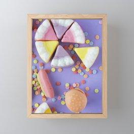 Colorful Gummy Candy Framed Mini Art Print