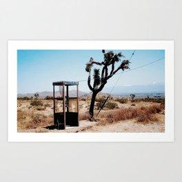 MOJAVE DESERT PHONE BOOTH Art Print