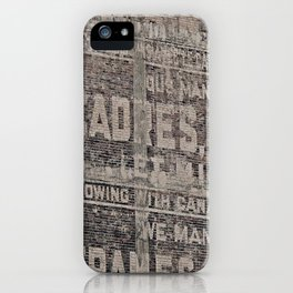 Ghost Sign and Sign iPhone Case