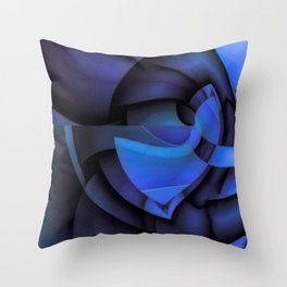 Blue Style Throw Pillow