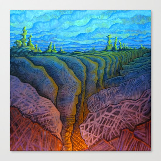 deep fracture Canvas Print