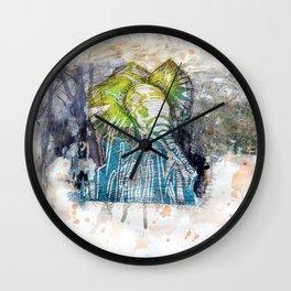 Orangy Elephant Wall Clock