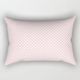 Blushing Bride and White Polka Dots Rectangular Pillow