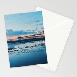 Sunset at Southport Pier Stationery Cards