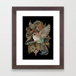 Clockwork Sparrow Framed Art Print