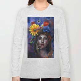 Mind Blown Oil Painting Long Sleeve T-shirt