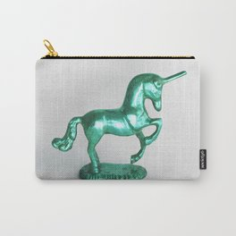Turquoise Unicorn Carry-All Pouch