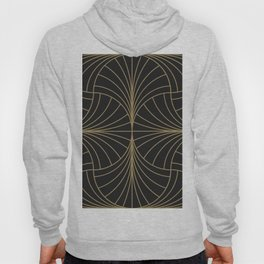 Diamond Series Inter Wave Gold on Charcoal Hoody