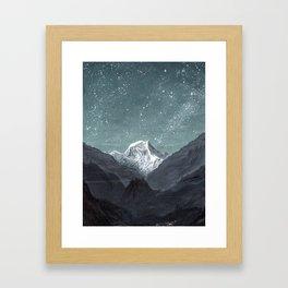 Mountain Range Framed Art Print