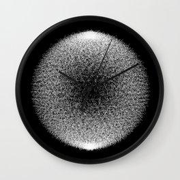 Abstract scribble circle banner. Wall Clock
