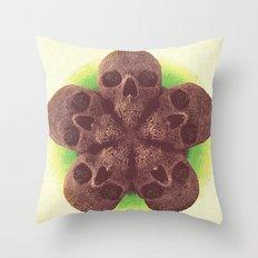 Skull Mandala Test No.1 Throw Pillow