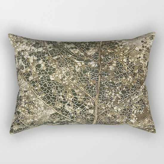 Old gold Rectangular Pillow