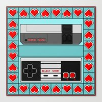 video game Canvas Prints featuring Video Game Lover : NES by The Geek Inside Me