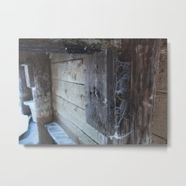 Frosted Cobwebs Metal Print