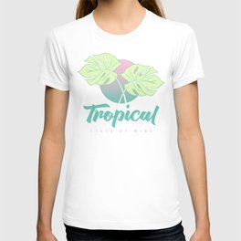 Tropical State of Mind: Aqua pink, summer vacation T-shirt