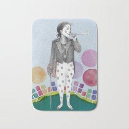 clown and lots of dots Bath Mat