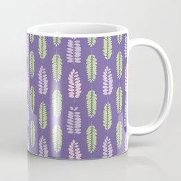 Tree leaf silhouettes seamless pattern Coffee Mug