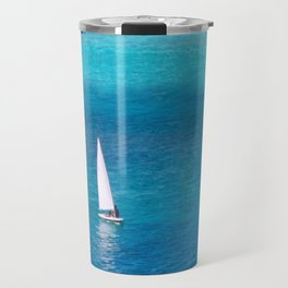 Perfect Blue Sailing Day Travel Mug