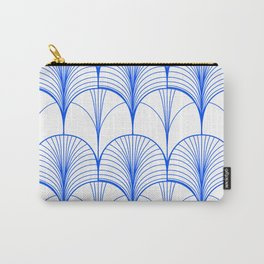 Art Deco Blue #pattern #illustration Carry-All Pouch
